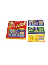 Pack of 6 Fake Joke Lottery Lotto Ticket Scratch Cards. Lottery Laughs