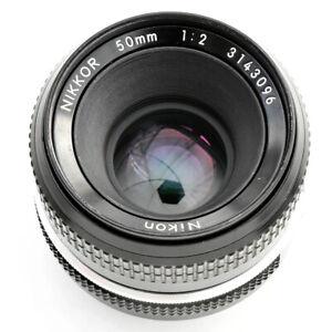 Nikon Nikkor 50mm f/2 AI Converted spr shp Lens. Exc++++. Tst'd. See Test Images