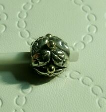 Pandora Sterling Silver & 14k Gold Holly Charm #790499,RETIRED