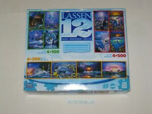 Christian Riese Lassen 12 Jigsaw Puzzle Multi-Pack 100 300 500 Pieces Used, READ