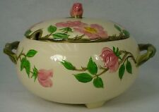 FRANCISCAN china DESERT ROSE made in USA 3-Toed SOUP TUREEN with Lid