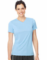 Hanes Women's Cool DRI T-Shirt V-Neck Top Performance Contemporary Fit Tee S-3XL