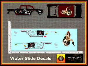 1/64 '55 Chevy 'Pirate's Maid' CUSTOM Decal SCR-0229