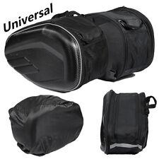 Schwarz Motorrad Satteltaschen Seitenkoffer Helmtasche 36-58L mit Regenschutz 2x