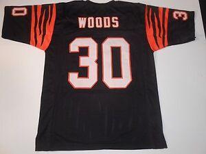 UNSIGNED CUSTOM Sewn Stitched Ickey Woods Black Jersey - M, L, XL, 2XL, 3XL