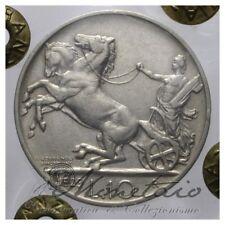 (Monetaio) Vittorio Emanuele III 10 Lire 1929 Biga 2 Rosette Ag BB/qSPL Inasta