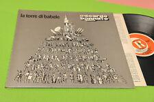 EDOARDO BENNATO LP LA TORRE DI BABELE 1976 EX+ GATEFOLD COVER INNER TESTI