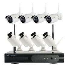 8CH HD1080P Wireless NVR Home Outdoor 8X720P Security CCTV IP Cameras System Kit