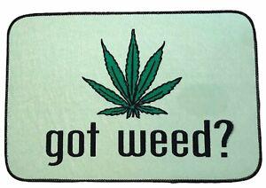 Got Weed? Funny Pot Cannabis Floor Rug Home Green Black Trim Door Mat Carpet