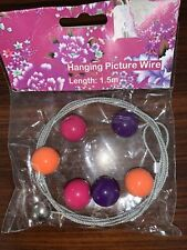 Magnetic picture wire with 5 Bead magnets 1.5 M per pack.