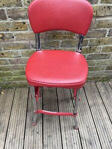 Red And Chrome Cosco Stool