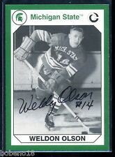 Weldon Olson signed autographed Auto 1990 Michigan Spartans card #75