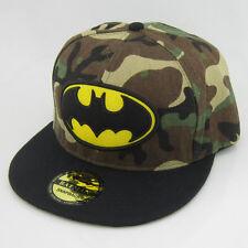 New Camo black batman hiphop Cosplay Snapback Adjustable baseball cap flat hat