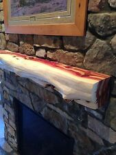 5' Red cedar fireplace mantel, beam log rustic juniper handpeeled log furniture