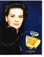 PUBLICITE ADVERTISING  1999    LANCOME parfum POEME  Juliette BINOCHE