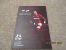 Wales v New Zealand Saturday 25th November 2017 Under Armour Series Programme