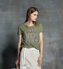 Mehrfarbige Damenblusen, - Tops & -Shirts mit U-Ausschnitt