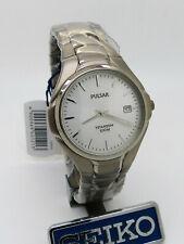 Pulsar PG8 029 SEIKO Titanium Quartz Mineral GlassWristwatch New
