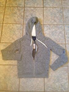 American Eagle Size Medium Zip Front Hoodie Gray NWT