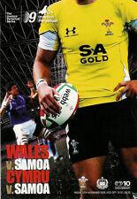 Gales v Samoa 13 nov 2009 Cardiff Rugby programa