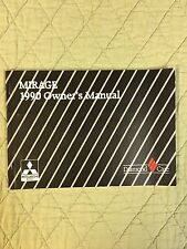 90 1990 Mitsubishi Mirage Owners Manual Guide FREE SHIPPING Book SMOKE FREE