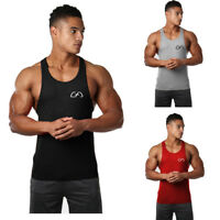Mens Tight sleeveless Gym Fitness Muscle Bodybuilding Stringer Tank Tops Vest US