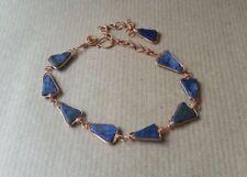 Copper & Lapis Lasuli Wire-work Bracelet Handmade