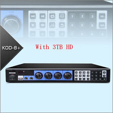 KOD-8H Jukebox Mixer KARAOKE MICROPHONE Machine System Player W/HDMI W/3TB HD