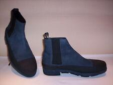 Balenciaga scarpe stivali stivaletti chelsea casual uomo pelle blu shoe boots 42