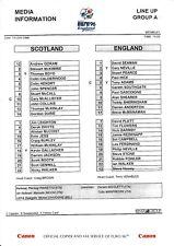 95/96 Scotland England Euro 96 Group A Team Sheet (Gascoigne goal)