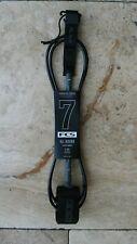 Fcs 7' Essential Series Regular Surfboard Leash Black/Grey