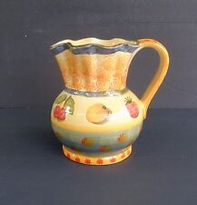 """ITALIAN POTTERY LARGE TABLE PITCHER """"FIRENZE TUSCAN DESIGN"""" HOLDS 64 OZ."""