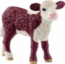 Schleich Farm World Hereford Kalb stehend Spielzeug Spielfigur Figur Kalbfigur