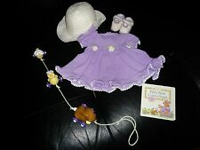 """American Girl Retired Bitty Baby """"BITTY Bear Colors Eggs"""" Outfit, Book & Toy"""