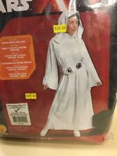 Disney Ladys Deluxe Star Wars Princess Leia With Wig  Costume Cosplay MEDIUM