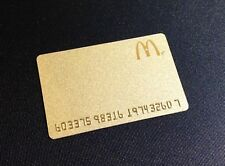 CANADA MCDONALDS GOLD COLOUR GIFT CARD / ARCH CARD ----- NEW ----- RARE