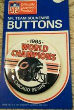 "1985 Chicago Bears Super Bowl XX World Champs button 3 1/2"" Walter Payton Fridge"