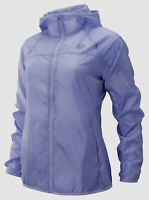 $298 New Balance Women Purple Zip-Up Hooded Water-Resistant Windcheater Jacket S