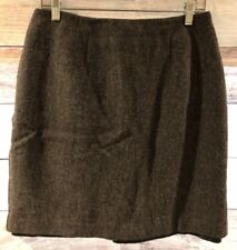 Requirements Womens Gray Pencil Skirt Knee Length Career Work Wool Size 14 LBB76