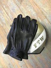 Grifter Scoundrels leather motorcycle gloves (black)