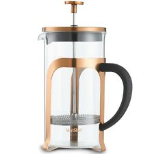 VonShef Cafetiere French Press 8 Cup/1L Glass Copper Stainless Steel