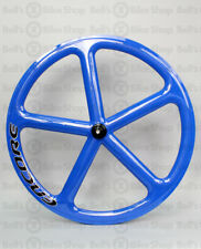 Encore Carbon Track Fixed Gear Front Wheel Blue 700c NMSW SB Bolt-On Hub 100mm