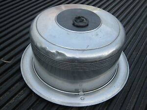 Westbend Made in USA Vintage Aluminum Cake Carrier or Server Pan with Lid