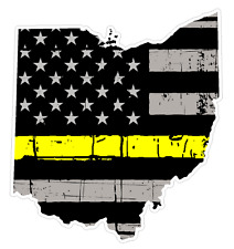 Ohio State (E36) Thin Yellow Line Dispatch Vinyl Decal Sticker Car/Truck Laptop