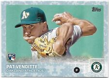Pat Venditte RC 2015 Topps Update Snow Camo #US81 Oakland Athletics A's /99 Rare