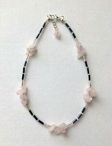 Handmade Rose Quartz Chip Beads Gemstone Anklet Ankle Chain Ankle Bracelet