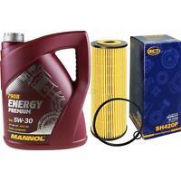 Ölwechsel Set 5L MANNOL Energy Premium 5W-30 + SCT Ölfilter Service 10164411