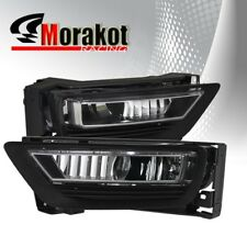 13-15 Honda Accord 4 DR4 OEM Front Bumper JDM Fog Light Clear+Switch Harnesses
