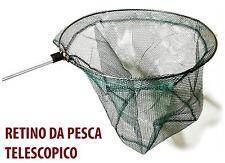 RETINO DA PESCA RETE MANICO TELESCOPICO GUADINO ALLUNGABILE FISHING LAGO FIUME