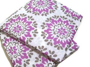 Pottery Barn Teen Medallion Purple Brown Organic Full Queen Duvet Cover New